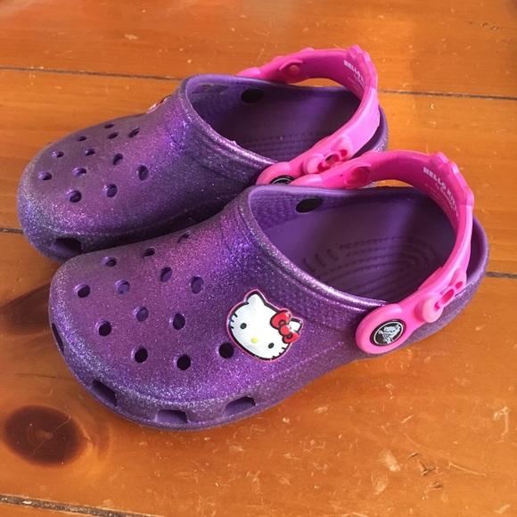 ae206887c CROCS Shoes | Hello Kitty Glitter Clogs | Poshmark